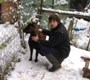 Photo: Henry and I in the snow (January 2010)